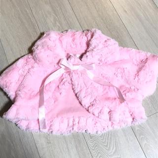 値下げ ピンク ファー ボレロ 110(カーディガン)