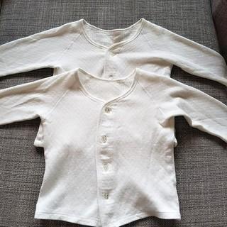 最終値下げ‼️厚手 肌着 キルト 80 二点 長袖 冬 ベビー