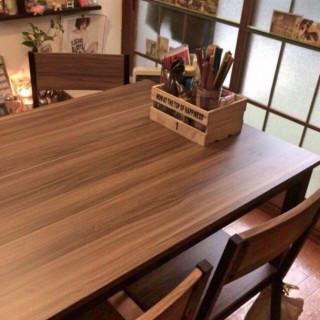 木目調 ダイニングテーブルセット ウォルナット