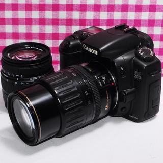 キヤノン(Canon)の⭐️相棒と出掛けよう⭐️ Canon EOS 20D ダブルレンズ❤️安心保証(デジタル一眼)