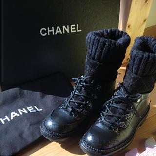 CHANEL - CHANEL レースアップ ブーツ