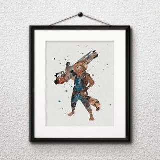 ディズニー(Disney)のロケット・ガーディアンズオブギャラクシー ・マーベル・アートポスター(ポスター)