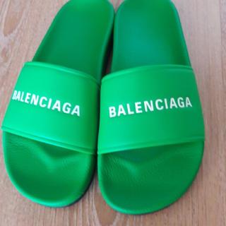 バレンシアガ(Balenciaga)のレア 18ss balenciaga スライダー サンダル 45 新品 緑(サンダル)