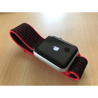 アップルウォッチ(Apple Watch)の美品 Apple Watch Series 3 Nike+ Cellular(腕時計(デジタル))