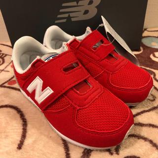 ニューバランス(New Balance)の14センチ  新品未使用 ニューバランス  スニーカー 子供靴 赤 レッド(スニーカー)