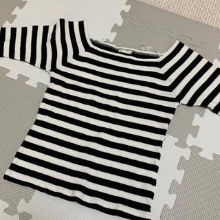 ジーユー(GU)のボーダートップス(Tシャツ(半袖/袖なし))
