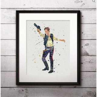 ディズニー(Disney)の日本未発売!ハン(スターウォーズ)アートポスター【額縁つき・送料無料!】(ポスター)