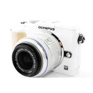 オリンパス(OLYMPUS)のOLYMPUS E-PL2 レンズキット★8GB新品SDカード、元箱付!(ミラーレス一眼)