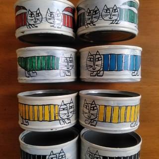 リメイク缶マイキー 8点セット ナンバー3(インテリア雑貨)