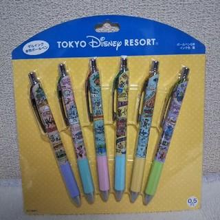 ディズニー(Disney)のボールペン6本 ディズニーリゾートファンマップ(ペン/マーカー)