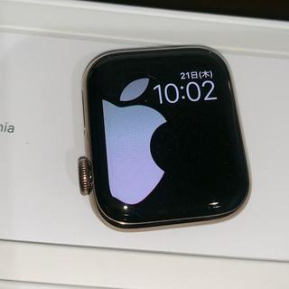 アップルウォッチ(Apple Watch)のApple Watch Series4 40mm ゴールド ステンレススチール(腕時計(デジタル))