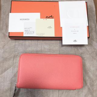 エルメス(Hermes)の国内正規エルメス購入シルクイン極美品フラミンゴ(財布)