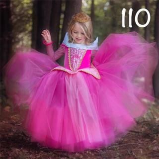 ディズニー(Disney)のオーロラ姫 ドレス 長袖 プリンセスドレス 110(ドレス/フォーマル)