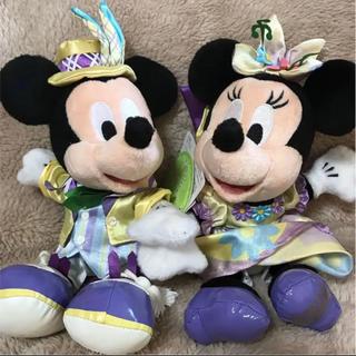 ディズニー(Disney)の『新品』ディズニーランド  ミッキー&ミニー  イースター  ぬいぐるみセット(キャラクターグッズ)