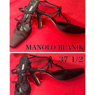 マノロブラニックサテンリボンスリングバッグシューズ(ドレス/ビジネス)