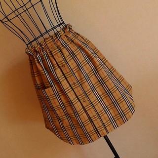 バーバリー(BURBERRY)のBurberry リメイク オーバースカート(ひざ丈スカート)