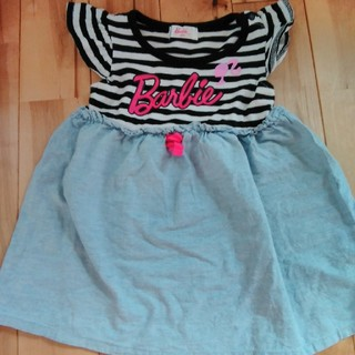バービー(Barbie)の中古 美品 ベビー ワンピース 半袖 サイズ80(ワンピース)