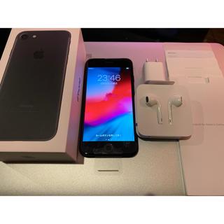 アイフォーン(iPhone)のSIMフリー 新品交換品未使用 iPhone7 256GB ブラック付属品未使用(スマートフォン本体)