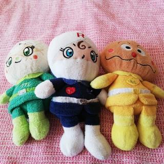 メロンパンナ、ロールパンナ、カレーパンマン ぬいぐるみ(キャラクターグッズ)