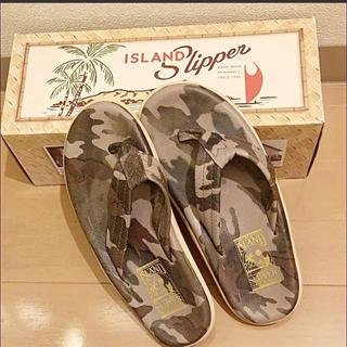アイランドスリッパ(ISLAND SLIPPER)のアイランド スリッパ  ISLAND SLIPPER サンダル カモフラ 迷彩(サンダル)