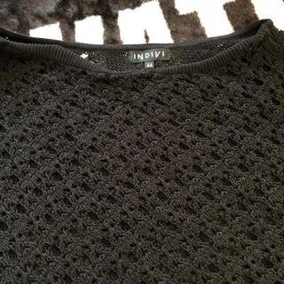 インディヴィ(INDIVI)のINDIVI サマーセーター 44 美品(ニット/セーター)