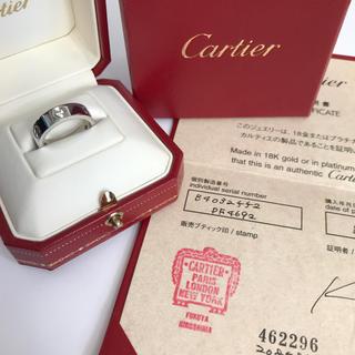 カルティエ(Cartier)のカルティエ超美品ラブリングWGハーフダイヤ本物(リング(指輪))