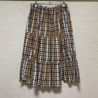 サントニブンノイチ(サントニブンノイチ)の古着チェックスカート(ロングスカート)