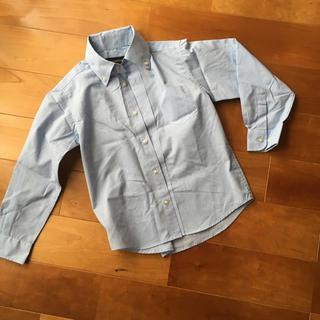 キャサリンコテージ(Catherine Cottage)の水色ストライプ ボタンダウンシャツ 110cm(ブラウス)