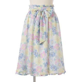 リズリサ(LIZ LISA)の「LIZLISA」パステルフラワースカート(ひざ丈スカート)