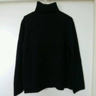 GU - 【新品】GU*ローゲージタートルネックセーター*メンズ*S*黒*ブラック