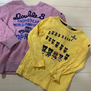 ダブルビー(DOUBLE.B)のミキハウス120ダブルBトップス2点長袖Tシャツトレーナー(Tシャツ/カットソー)
