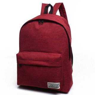 KU072  無言購入OK☆シンプルリュック☆ポケット多数で使いやすさ抜群♪ 赤(リュック/バックパック)