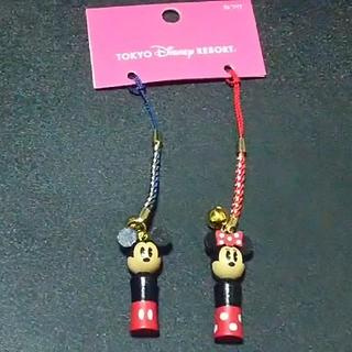ディズニー(Disney)のディズニーリゾート ミッキー&ミニー根付けストラップ (ストラップ/イヤホンジャック)