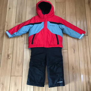 コロンビア(Columbia)のコロンビア Columbia スキーウェア 3T(100cm) レッド×ブラック(ウエア)