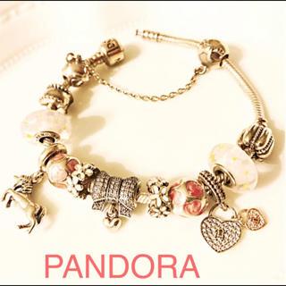 Pandora パンドラ チャームつき ブレスレット❤︎(ブレスレット/バングル)