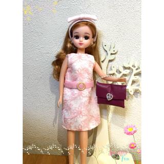 e2b35f9ec949d リカちゃんサイズの春ワンピースと小物4点セット(人形)
