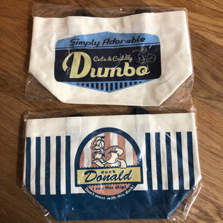ディズニー(Disney)の新品 帆布ランチトートバッグ 2コ組(弁当用品)