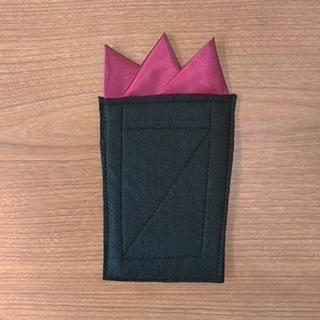 みつばっち様専用 ポケットチーフ ワインレッド スリーピークス(ハンカチ/ポケットチーフ)