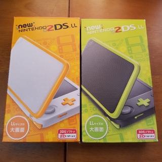 ニンテンドー2DS(ニンテンドー2DS)の新品Newニンテンドー2DS LL 2点ホワイト×オレンジ/ブラック☓ライム(携帯用ゲーム本体)