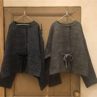 ネストローブ(nest Robe)のリネンウールツイルノーカラージャケット(ノーカラージャケット)