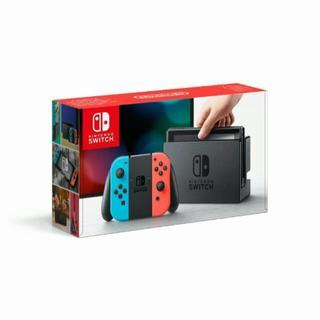 ニンテンドースイッチ(Nintendo Switch)の【新品】任天堂 Nintendo Switch ネオンブルー ネオンレッド(家庭用ゲーム機本体)