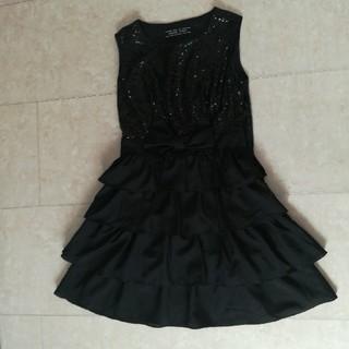 未使用黒ドレス(ミニドレス)