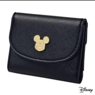 ナチュラルビューティーベーシック(NATURAL BEAUTY BASIC)のミッキーマウス  上質レザー調ミニ財布 steady付録 未開封品(財布)