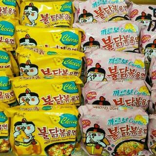 韓国プルダックポックンミョンカルボナーラ味10袋とチーズ味10袋(インスタント食品)
