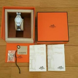 エルメス(Hermes)のエルメス クリッパー (腕時計) ホワイト×シルバー(腕時計)