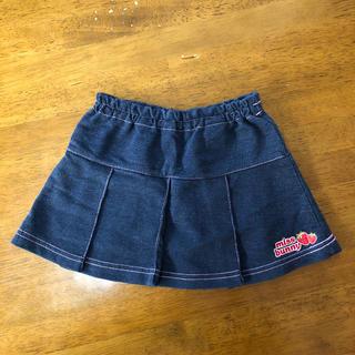 ディズニー(Disney)の女児 95cmネイビープリーツスカート(スカート)