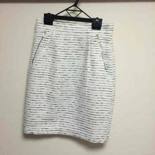 エイチアンドエム(H&M)のH&M ホワイト ボーダー スカート(ミニスカート)
