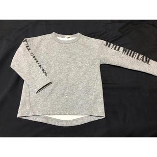 ジーユー(GU)の新品未使用 子ども トレーナー トップス グレー 110(Tシャツ/カットソー)