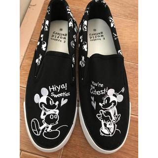 Disney - イーハイフンワールドギャラリー ディズニー ミッキー ミニー スニーカー 黒