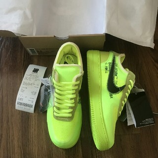 NIKE - NIKE AIR FORCE LOW X OFF-WHITE VOLT 26.5
